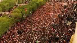 Manifestation de masse dans les rues de Tunis