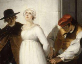 Marie-Antoinette conduite à l'échafaud