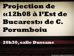 20h30 – Projection de « 12h08 à l'Est de Bucarest » de C. Porumboiu