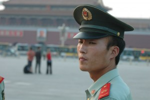 Photo : Soldat chinois place Tian'anmen à Pékin. (Credit:Philip McMaster)