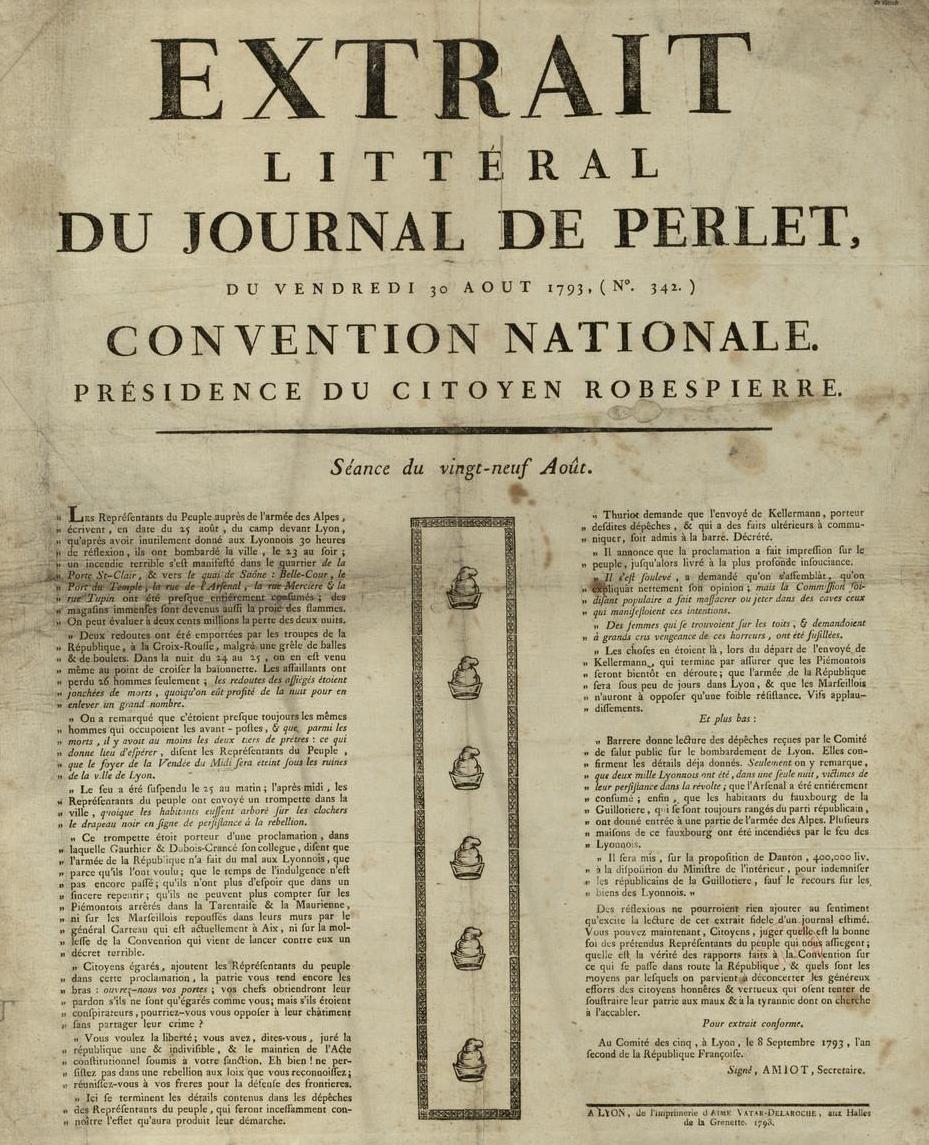 Semaine de l 39 histoire 2013 1789 une r volution pour la presse fran aise - Le journal de la une ...