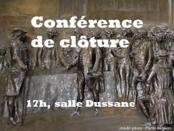 17h00 – Conférence de clôture